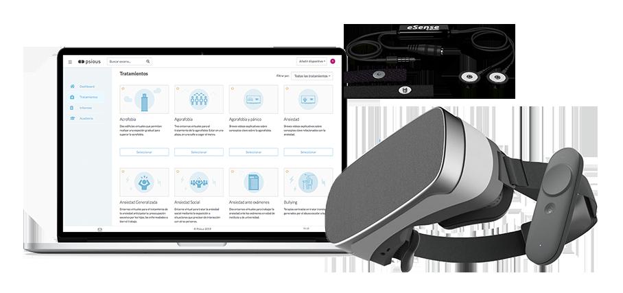 Solución de realidad virtual para psicólogos - Psious