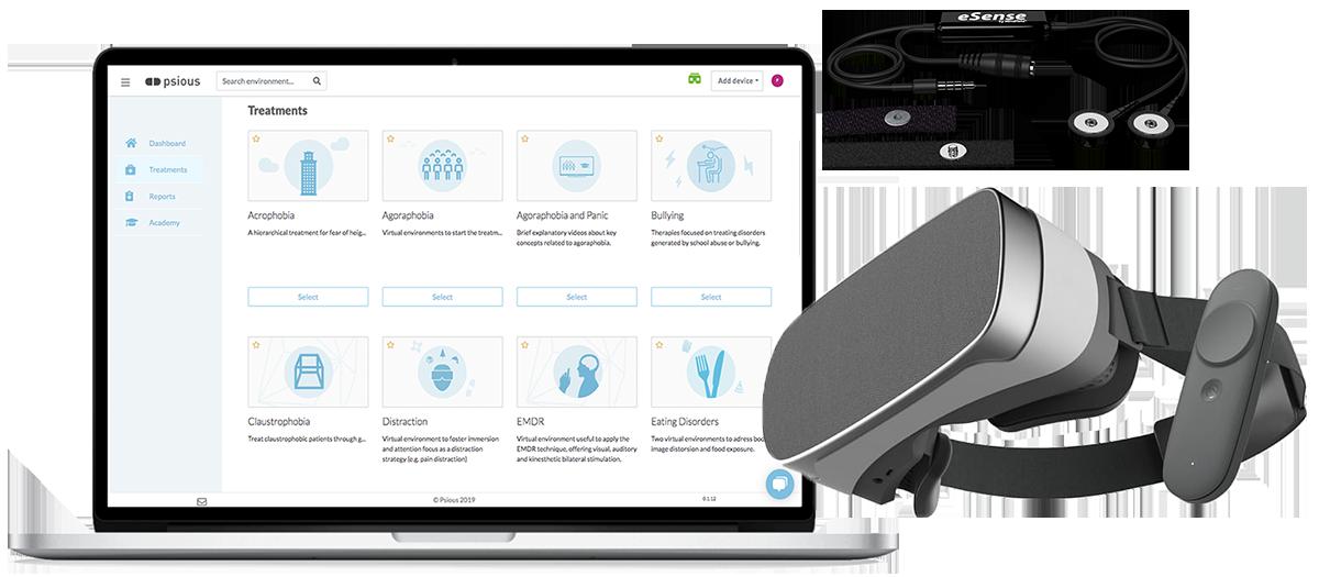 Virtual reality kit for mental health