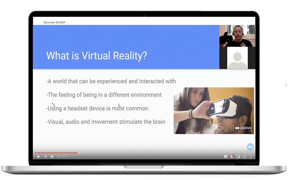 webinar intro VR